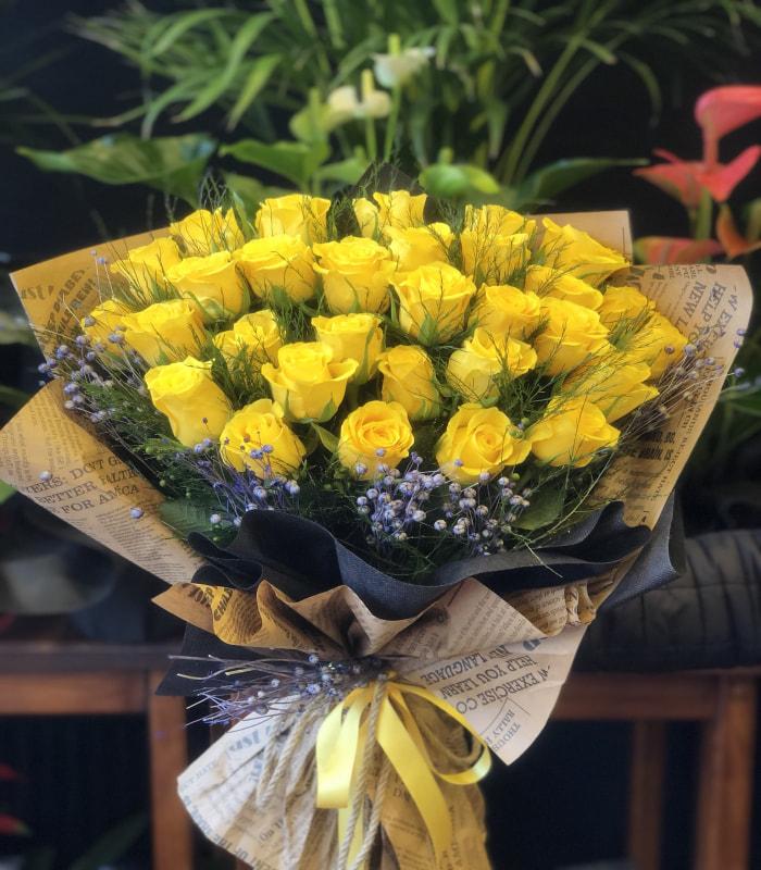 Premium 30 Adet Sarı Gül