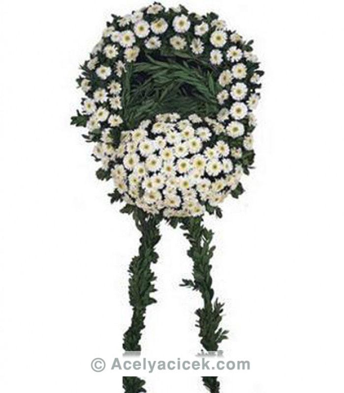 Beyaz Gerbera Cenaze Çeleng