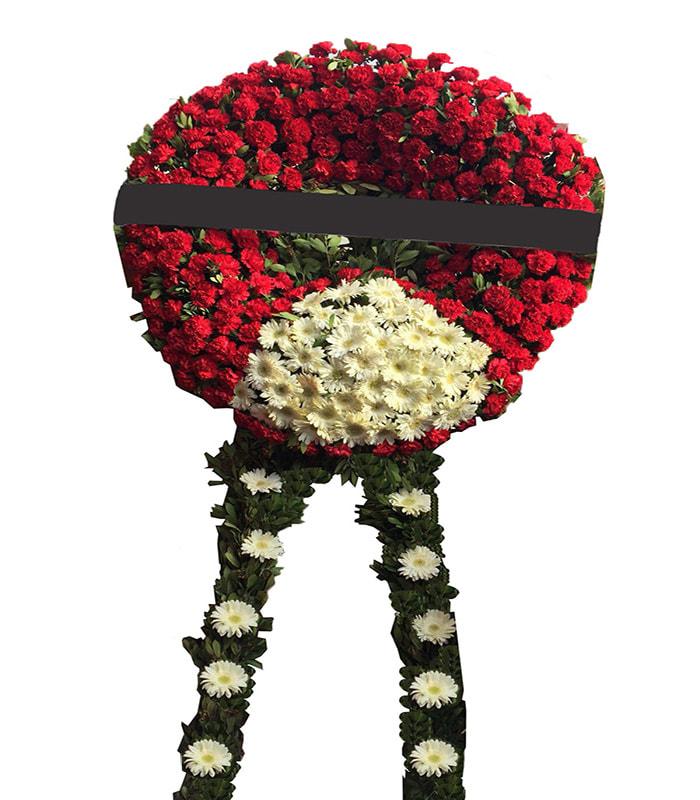 Kırmızı Beyaz Asalet Cenaze Çelengi